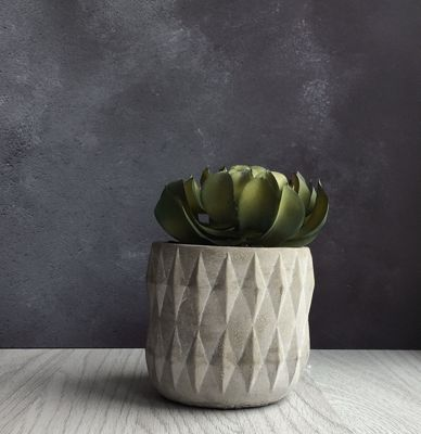 Artificial Succulents in Pot - Blue Star