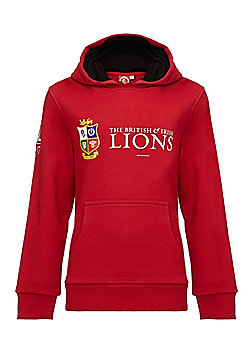 Sportfolio British & Irish Lions Kids Pullover Hoody - Red