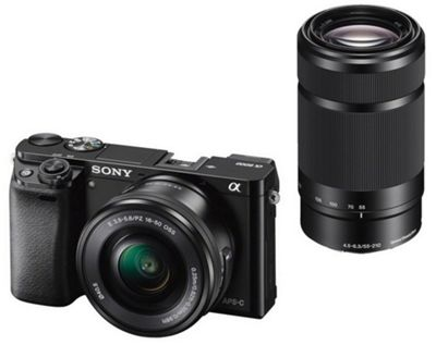 Sony Alpha A6000 16-50mm + 55-210mm Compact System Kit