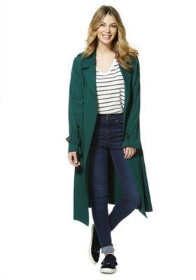 F&F Tie Waist Trench Coat Green 20