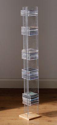 Premier Housewares Floorstanding CD Rack with Light Wood Base