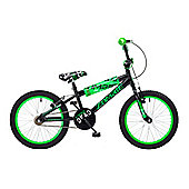 "Concept Zombie Kids 18"" Wheel BMX Bike Black & Green"