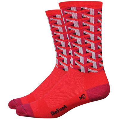 Defeet Aireator 6 inch Framework Sock Red Size: L