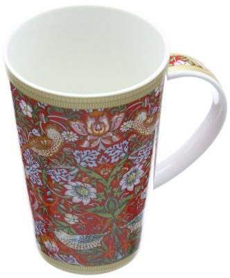 MW WM Strawberry Thief Red Conical Mug 420ML GB