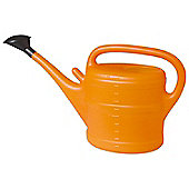 10L Orange Plastic Garden Watering Can with Rose