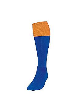 Precision Training Turnover Football Socks - Royal & Yellow