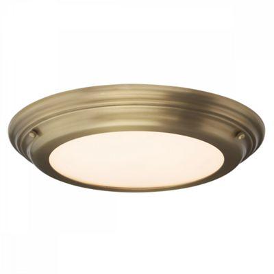 Aged Brass Flush Light - 1 x 25W Intergrated LED