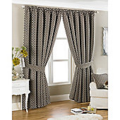 Riva Home Devere Pencil Pleat Curtains - Mocha