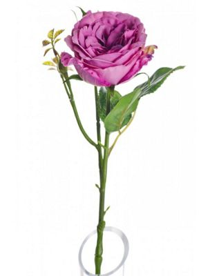 Artificial - Lydia Cabbage Rose Spray - Purple