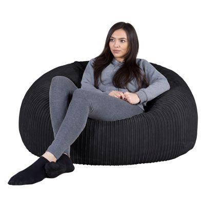 Lounge Pug® Classic Sofa Bean Bag - Cord Black