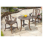 3-Piece Armchair Rose Patio Set - Bronze