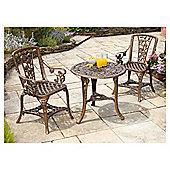 3-Piece Armchair Rose Patio Set - Bronze