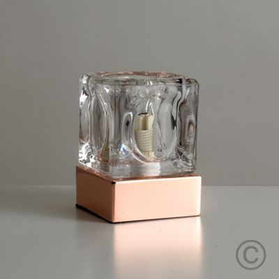 Ice Cube Touch Table Lamp, Copper