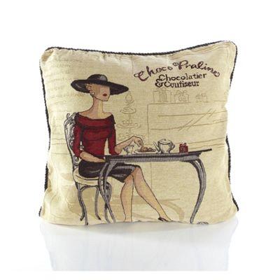 Alan Symonds Tapestry Coffee Shop Cushion Cover - 45x45cm