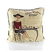 Alan Symonds Tapestry Coffee Shop Cushion Cover - 45x45cm