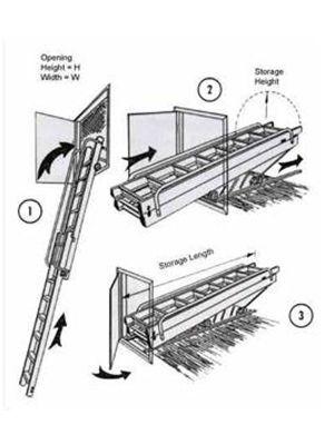 Vertical Carriage Loft Ladder