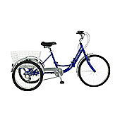 "Viking Cargo Trike 6-Speed 24""/20"" Wheel, Blue"