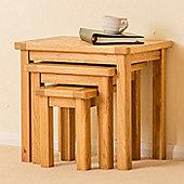 Roseland Oak Nest of Tables - Waxed Oak