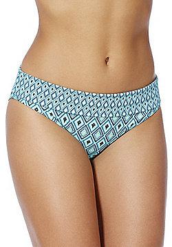 Curvy Kate Revive Fold-Over Bikini Briefs - Blue