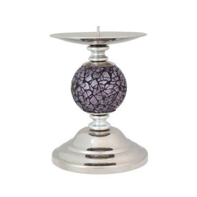 Lilac Mosaic ball Candlestick