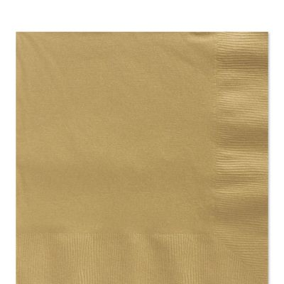 Gold Luncheon Napkins - 2ply Paper - 100 Pack