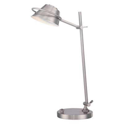 Brushed Nickel Desk Lamp - 7W LED (lamps included)