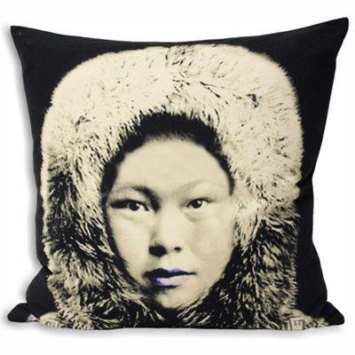 Riva Home Monochrome Eskimo Black & Grey Cushion Cover - 55x55cm