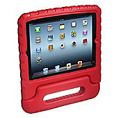 Kidprotek 2-In-1 Chunky Case and Stand for iPad - Red - Apple