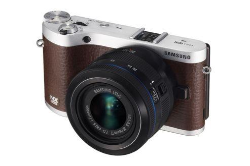 Samsung NX300 Camera Brown 20-50mm Lens Kit 20.3MP WiFi 3.31OLED FHD