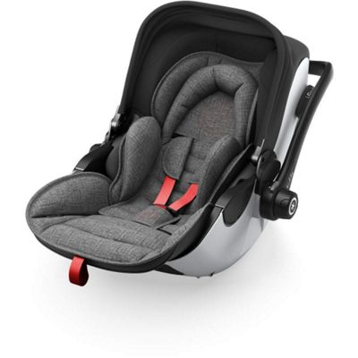 Kiddy Evo Luna i-Size 2 Car Seat & Base (Grey Melange/Hot Red)
