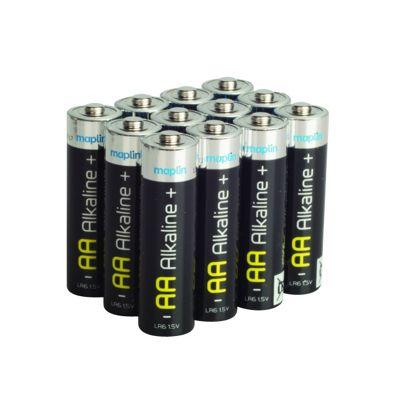 Maplin LR06 12 AA Extra Long-life Alkaline Battery Pack