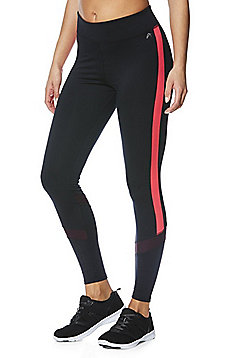 F&F Active Colour Block Leggings - Black