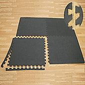 Confidence Fitness V2 Eva Gym Interlocking Floor (Fin Interlocking Design) (4 Tiles - 16 Sq Ft)