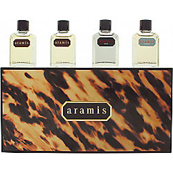 Aramis Miniature Gift Set 7ml Aramis EDT + 7ml Aramis Aftershave + 7ml Black EDT + 7ml Voyager EDT For Men