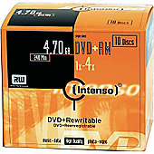 INTENSO DVD+RW 4.7GB 4X 10PC SLIMCASE
