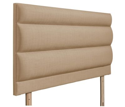 Swanglen Monza Gem Fabric Headboard with Wooden Struts - Oatmeal - Single 3ft