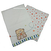 Forever Friends Little Star Cot Bed Flat & Fitted Sheets
