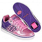 Heelys Motion Plus Purple/Pink Glitter Heely Shoe - Purple