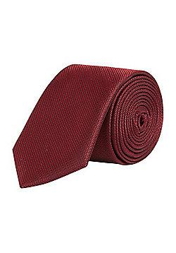 F&F Textured Slim Tie - Red