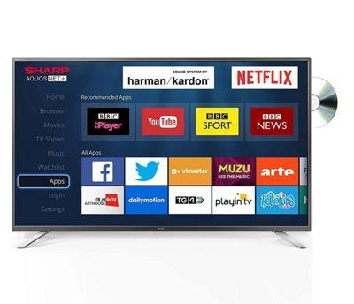 Sharp LC-32DHG6021K 32 Inch HD Ready Smart LED TV/DVD Combi