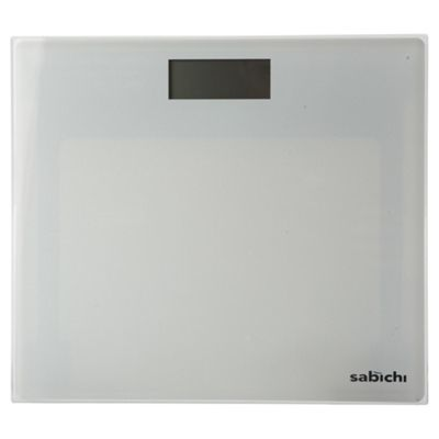 Sabichi White Glass Digital Bathroom Scales