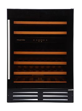 Russell Hobbs Integrated Freestanding 46 Bottle Dual Zone Wine