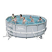 Bestway 14X48 Power Steel Frame Swimming Pool Set