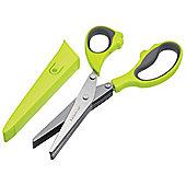KitchenCraft Multi Blade Herb Scissors with Sheath KCHERBSCIWS