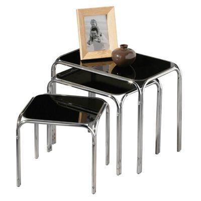 Lisbon Set of 3 Nesting Tables - Black