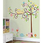 Baby Wall Stickers, Kids Wall Stickers, Nursery Giant Wall Stickers - Scroll Tree