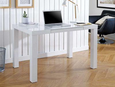 Berlin White High Gloss Computer PC Office Desk
