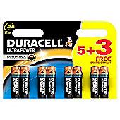 8 x Duracell MX1500 Ultra Power AA Size Batteries
