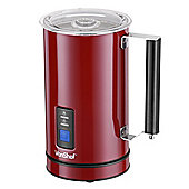 VonShef Premium Red Stainless Steel Dual Function Electric Milk Frother And Warmer