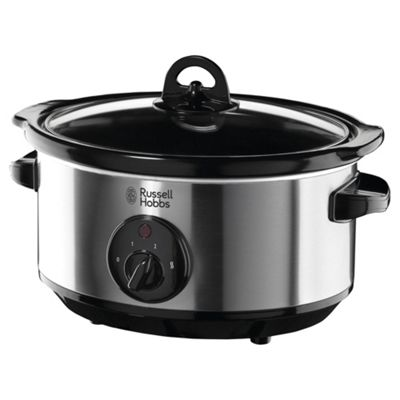 Russell Hobbs 19790 3.5L Slow Cooker - Stainless Steel